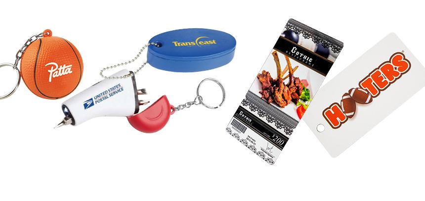 Plastic Keyrings & Tags