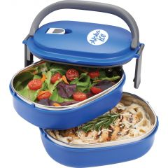 2-Tier Insulated Oval Food Container