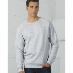 An athletic grey coloured crewneck sweatshirt being worn by a man with one hand in his pocket