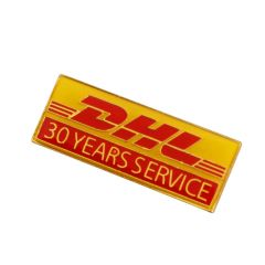 yellow and red rectangle shaped hard enamel lapel pin