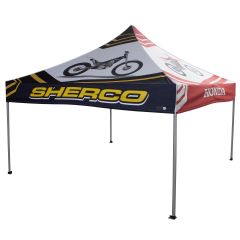 red and black 10x10ft canopy 600D polyester event tent