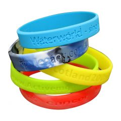 Embossed or Debossed Wristbands